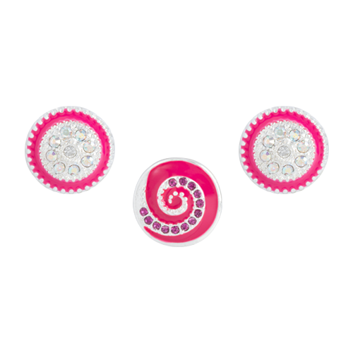 Fuchsia Whirl Dot Set