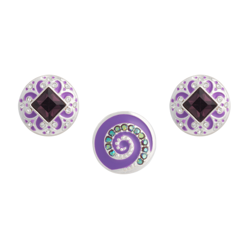Purple Whirl Dot Set